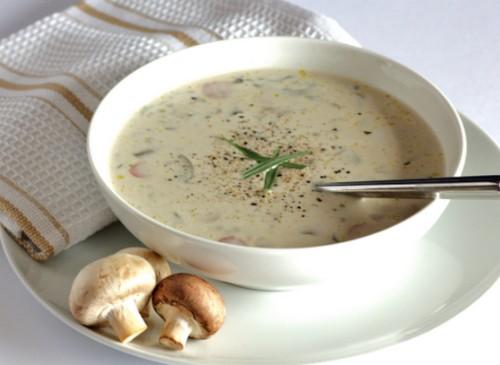 рецептсырного супа из грибов шампиньонов курицы